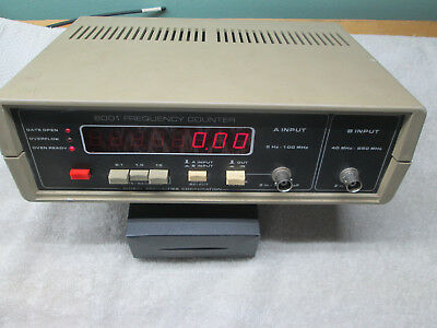 GLOBAL SPECIALTIES 6001 FREQUENCY COUNTER with Crystal Oven and Manual Ham Radio