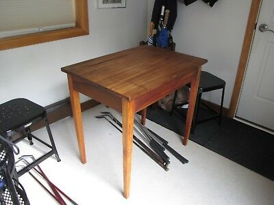 Antique Jamestown Table Co, Writing Table- Best Deck-American Farmhouse-inkwell