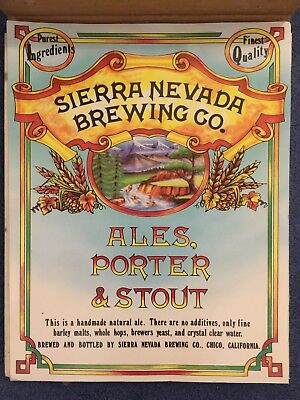 Early 1980's Sierra Nevada Brewing Company Posters NOS