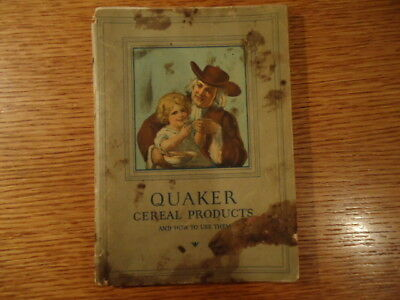 Quaker Cereal Products Book -1927