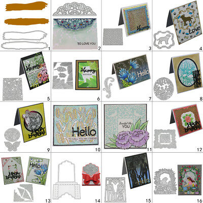 Family Frame DIY Cutting Dies Metal Stencil Scrapbooking Album Paper Card Square