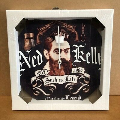 New metal wall clocks Ned Kelly