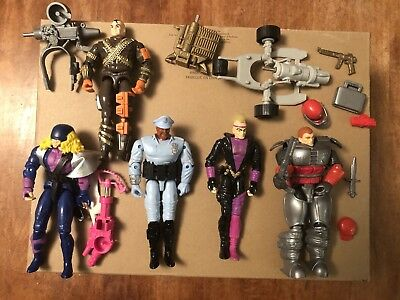 Lot of 5 Vintage Cops 'n' Crooks Action Figures - 1988-89 - Hasbro