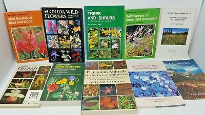 10 Book Lot: WILD FLOWERS and PLANT IDENTIFICATION Botany Trees Regional Guides
