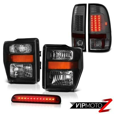 Left Right Headlamps Brake Cargo LED Parking Tail Lights 2008-2010 Ford F-350 SD