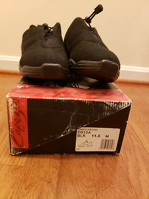 Capezio Toggle Dance Sneakers DS10A Black Adult 11.5 (Fits Ladies 11) New In Box
