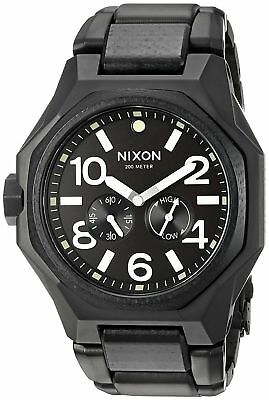 Nixon Tangent steel Matte Black Surplus Luminous Dial Tide Swiss Watch A3971042