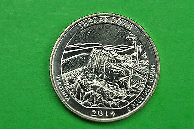 2014-D   BU Mint State ( Shenandoah )  US National Park Quarter