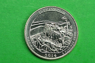 2014-S   BU Mint State ( Shenandoah )  US National Park Quarter