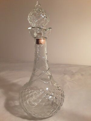 VINTAGE 1950'S Genie  Glass Decanter Style Bottle MARKED R-105 58-56