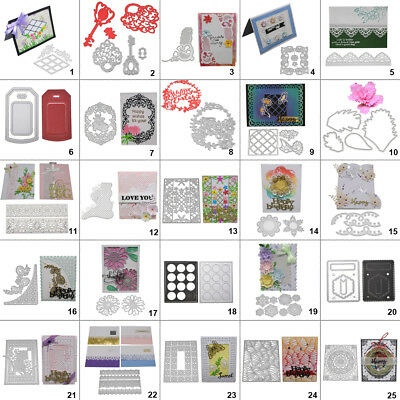 Flower Lace Frame DIY Cutting Dies Metal Stencil Scrapbooking Album Paper Card