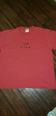 VTG Nike T Shirt Mens Size XLarge White Tag Embroidered Chest Spellout 90s USA