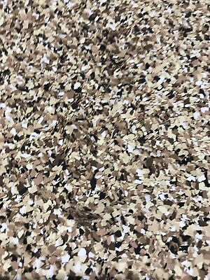 """Colored Flakes/chips For Epoxy Floors Saddle Tan  Mix 50 Lb Case 1/8"""" Size"""