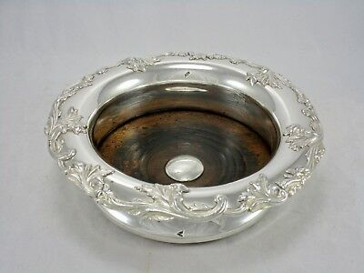 """Antique English OSP Old Sheffield Plate Fused Silver 7"""" Champagne Wine Coaster"""