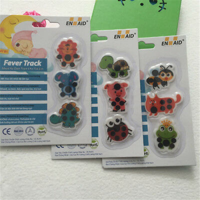 Kid medical temperature for children Baby cartoon forehead sticker thermometer.