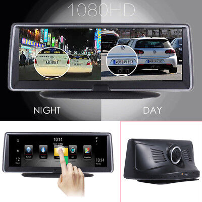 """7.8"""" 1080P Android 5.1 Car Dash Camera Recorder Touch Screen Navigation Map GPS"""