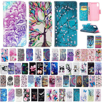 Patterned Flip Leather Wallet Case Shockproof Cover For iPhone XS Max 7 8 Plus