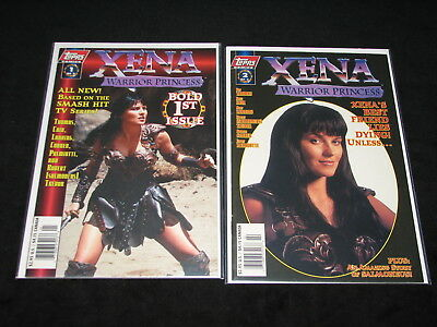 LOT /1 of 2 - 2 of 2 XENA Warrior Princess BOLD 1st ISSUE Topps 1997