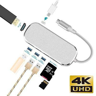 7 in 1 USB C Hub USB Type C Adapter Dock with 4K HDMI PD Charge for MacBook Pro