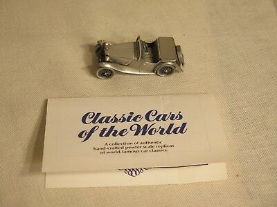 Classic Cars of the World 1948 MG-TC The Danbury Mint Pewter