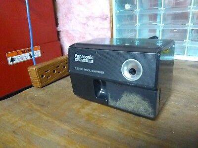 Vintage Black Panasonic Auto Stop Electric Pencil Sharpener KP-110 Made in Japan