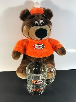 A & W Collectable Great Root Bear and Small Mug From Helena Montana A&W