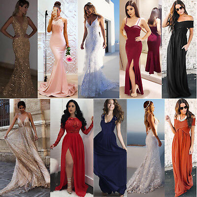 Women Long Dress Evening Party Gown Prom Ladies Bridesmaid Dresses Sundress Lot