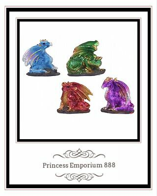 Miniature Dragon Set of Four 4cm