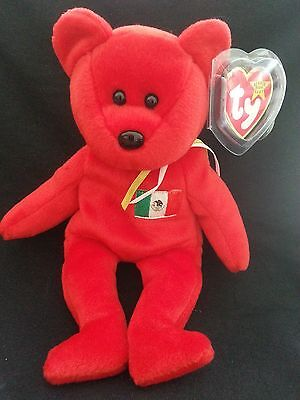 TY OSITO The RED BEAR  BEANIE BABY 1999 P.E. PELLETS