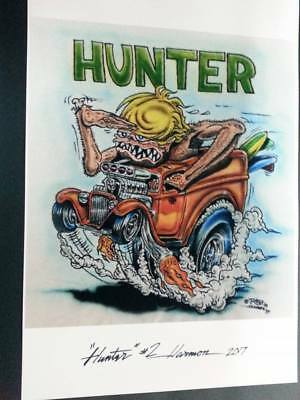 """Hunter"" Vintage Ed Roth Art 11""x17"" Print signed and numbered"
