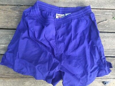 Vintage REEBOK Nylon Athletic Shorts BLUE Large