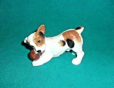 Royal Doulton Jack Russell Terrier With Ball Figurine HN1103 EXCELLENT CONDITION
