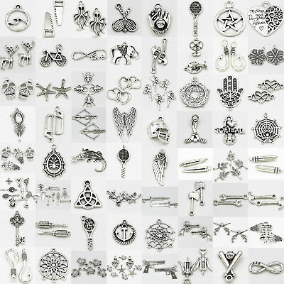 Wholesale Tibetan Silver Retro Style Charm Pendants Gothic DIY Jewellery Making