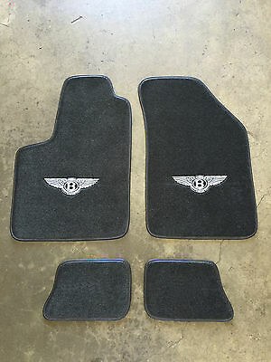 Bentley Cont Gt Coupe Custom Car Floor Mats 04-16 Black W/ Silver Wings #1 !!!!!