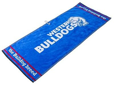 Official Afl Jacquard Golf Towel - Western Bulldogs - Brand New - Value Plus!!