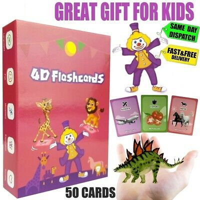 ⭕ Children's Flash Cards For Kids Educational Toys Pre School Learning Gifts