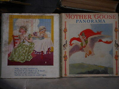 MOTHER GOOSE PANORAMA,Antique Child,* FOLD OUT BOOK*,Nursery Rhymes,VERY RARE