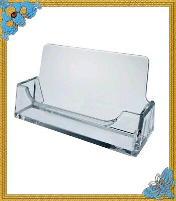 Acrylic Holders 45- Clear Plastic Business Card Holder Display Desktop New!!!!!