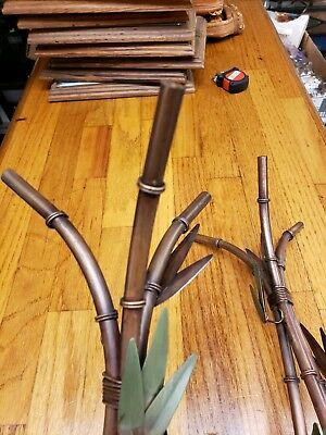 2 Bamboo Plants Made metal maybe copper