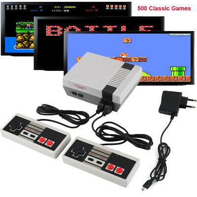 500 Video Games Retro Classic TV Game Console NTSC AV + 2pcs Gamepad