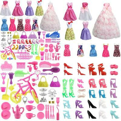 SOTOGO 85 Pcs Doll Clothes Set for Barbie Dolls Include 10 Pack Party Grown...