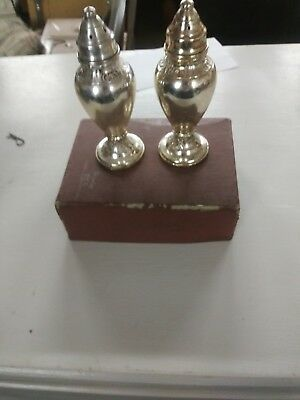 sterling silver weighted 82 g vintage salt and pepper shakers hallmarked