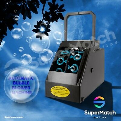 Automatic Bubble Machine Blowing Electric Battery Powered Disco Club 600ml Fluid
