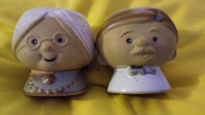 1970s Gempo pottery Japanese eggcup set
