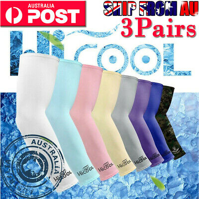 3Pair Cooling Sport Arm Stretch Sleeves Sun UV Protection Covers Golf Cycling OZ