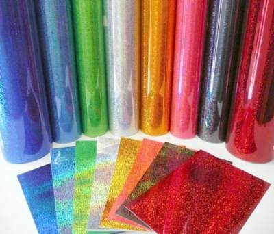 """5 ft Roll PURPLE GLITTER Adhesive Vinyl HOLOGRAPHIC 12"""" x 60"""" Sign Craft"""