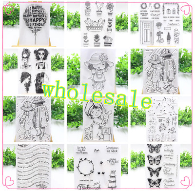 20Styles Transparent Silicone Clear Stamp Cling Seal Scrapbook Embossing Album