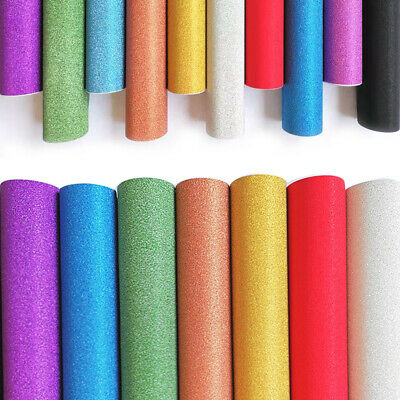 3D Textured Glitter Self Adhesive Vinyl Wall Paper Sticker Film 2/10 M Roll Wrap