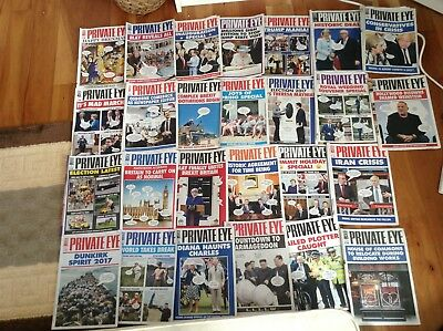 Private Eye Magazines 2017 - 26 magazines Full years supply Nos 1434 - 1459