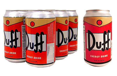 DUFF ENERGY DRINK x 6 Can Pack The Simpsons